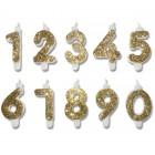 Свещи за торта с брокат цифри