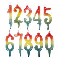 Свещи за торта цветни цифри